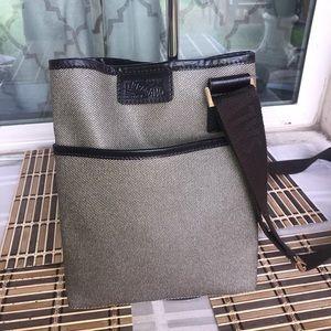 Authentic Ferragamo Shoulder Bag  Browns PVC